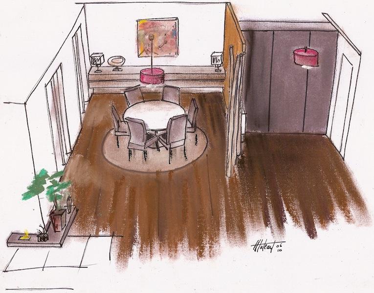 Dessin d une salle manger for Salle a manger dessin anime