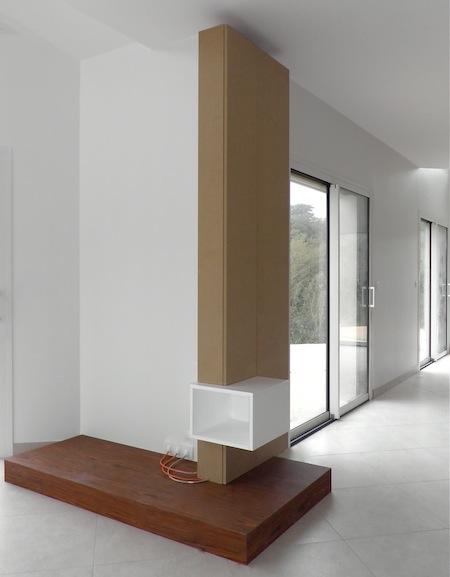 meuble tv dangle vitre avec plateau de rangements ? artzein.com - Meuble Tv Design D Angle